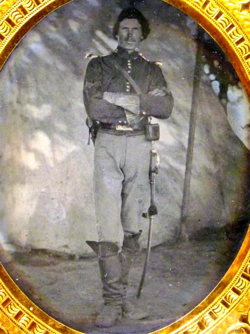 Fine 1/6 plate Tintype Image of a Great Looking Civil - 3