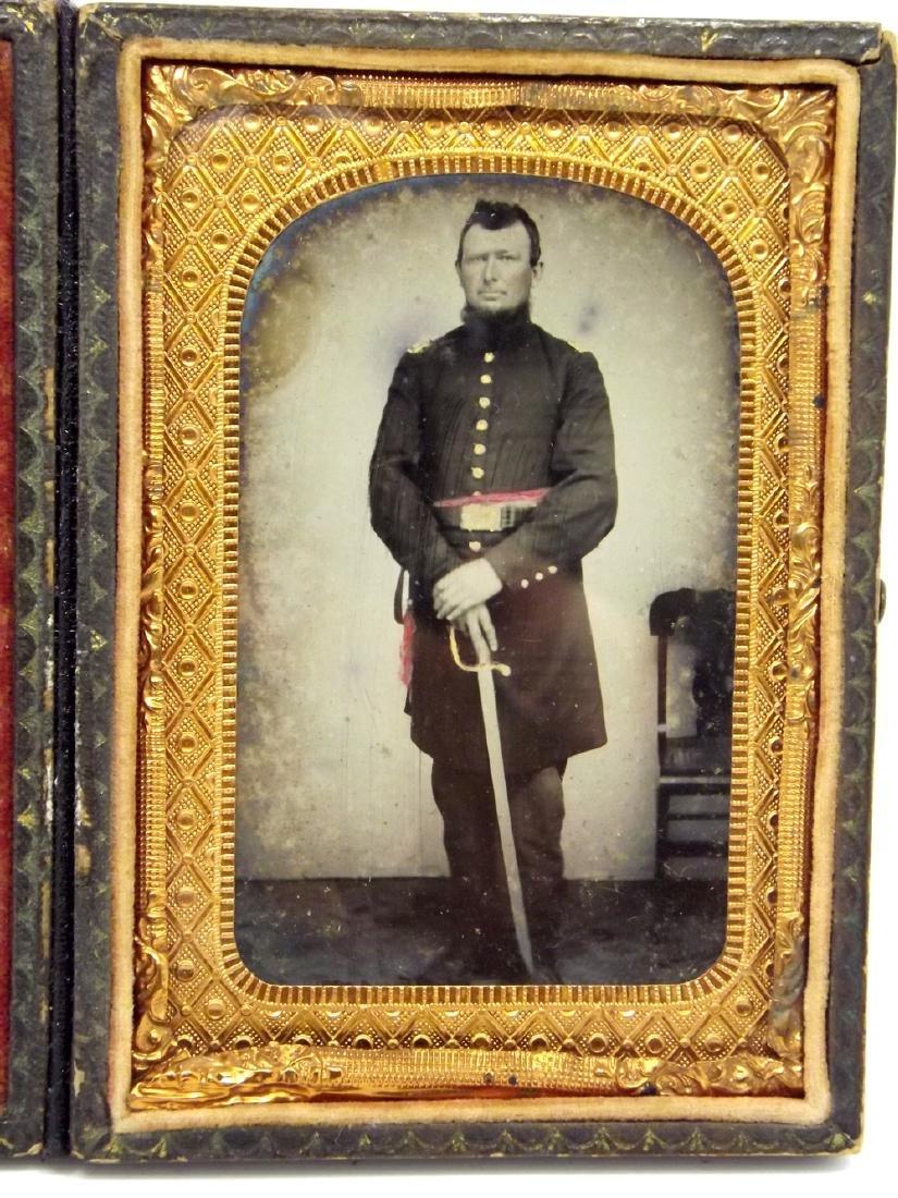 Rare 1/8 plate Tintype Image of Civil War