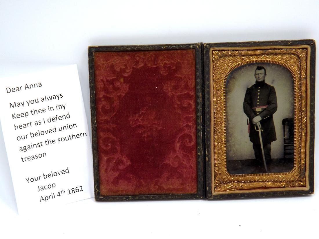 Rare 1/8 plate Tintype Image of Civil War - 2