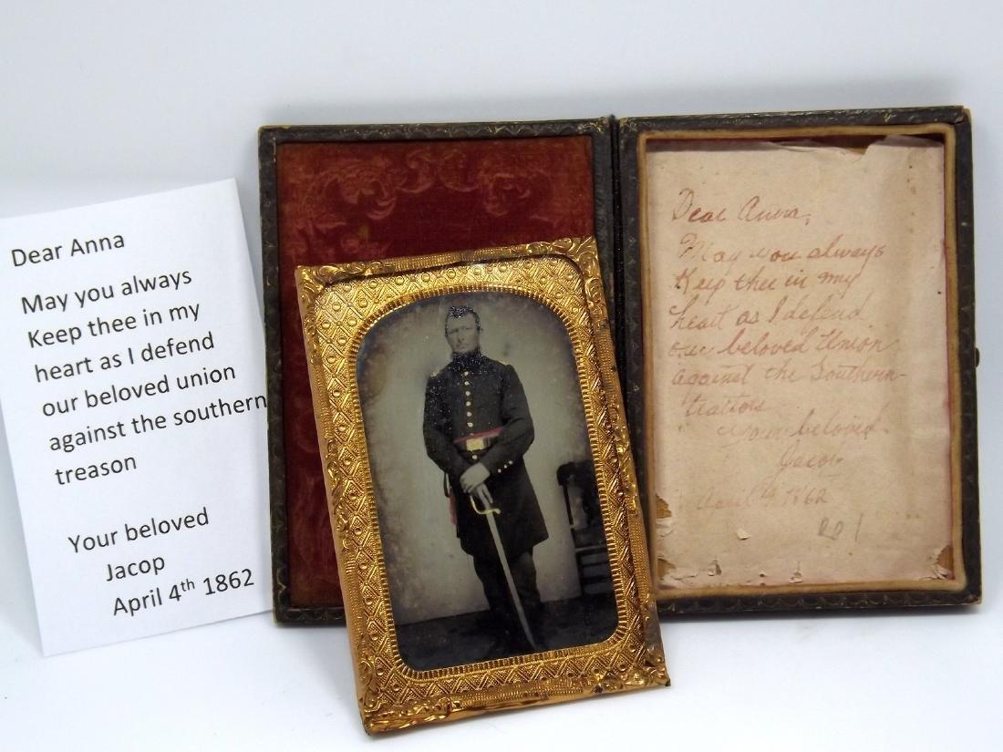 Rare 1/8 plate Tintype Image of Civil War - 3