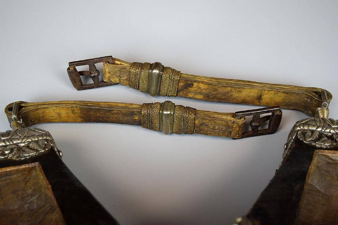 Spectacular 17th-18th C. Spanish Colonial Pair of - 5