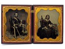 Outstanding Half-plate Ruby Ambrotype/Tintype of ID'ed