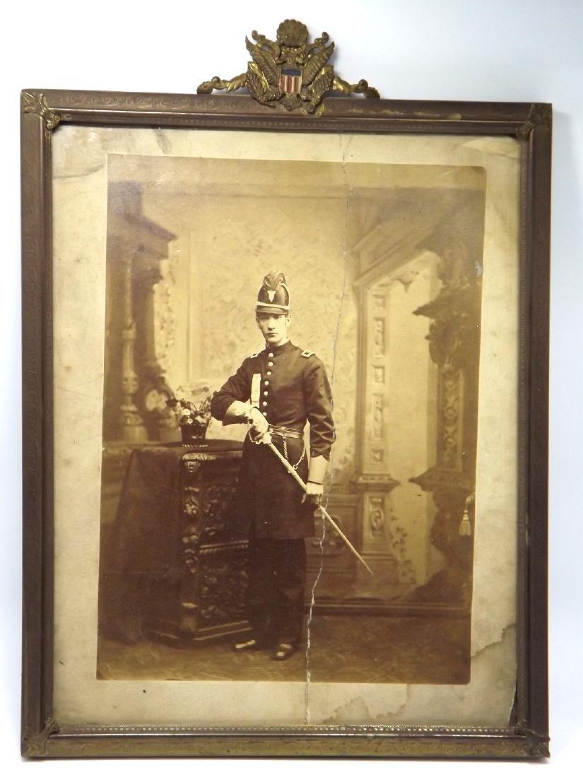 Large CDV Photograph of US Civil War era Militia