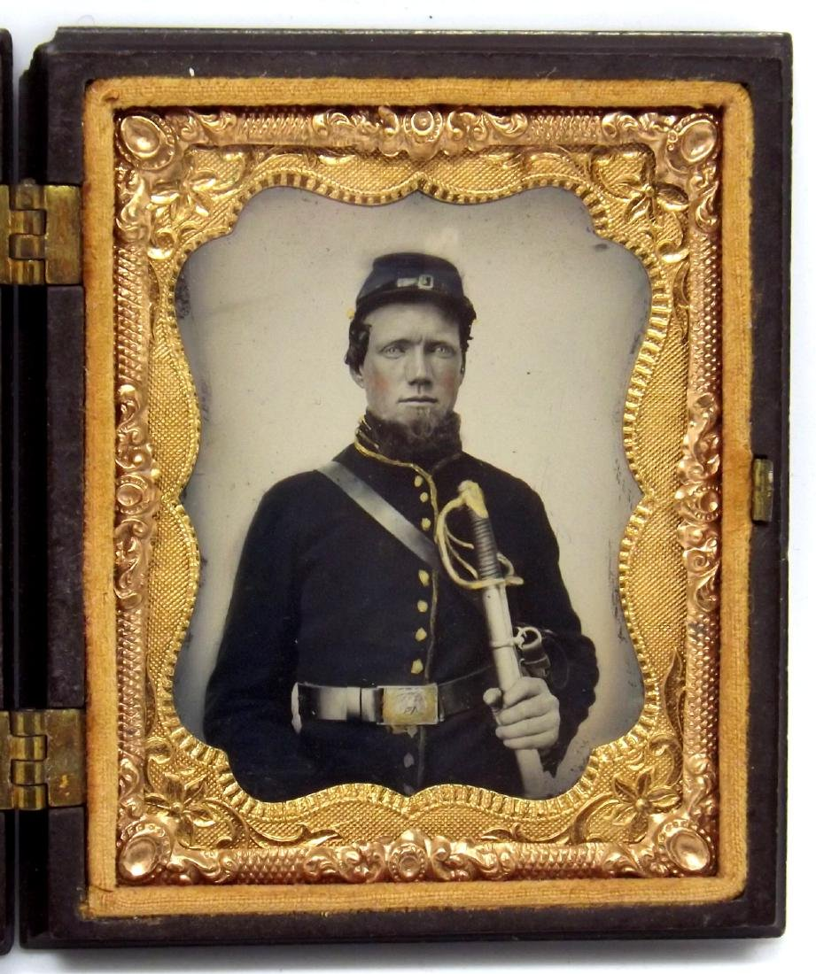 1/9 plate Melainotype Tintype Image of Civil War
