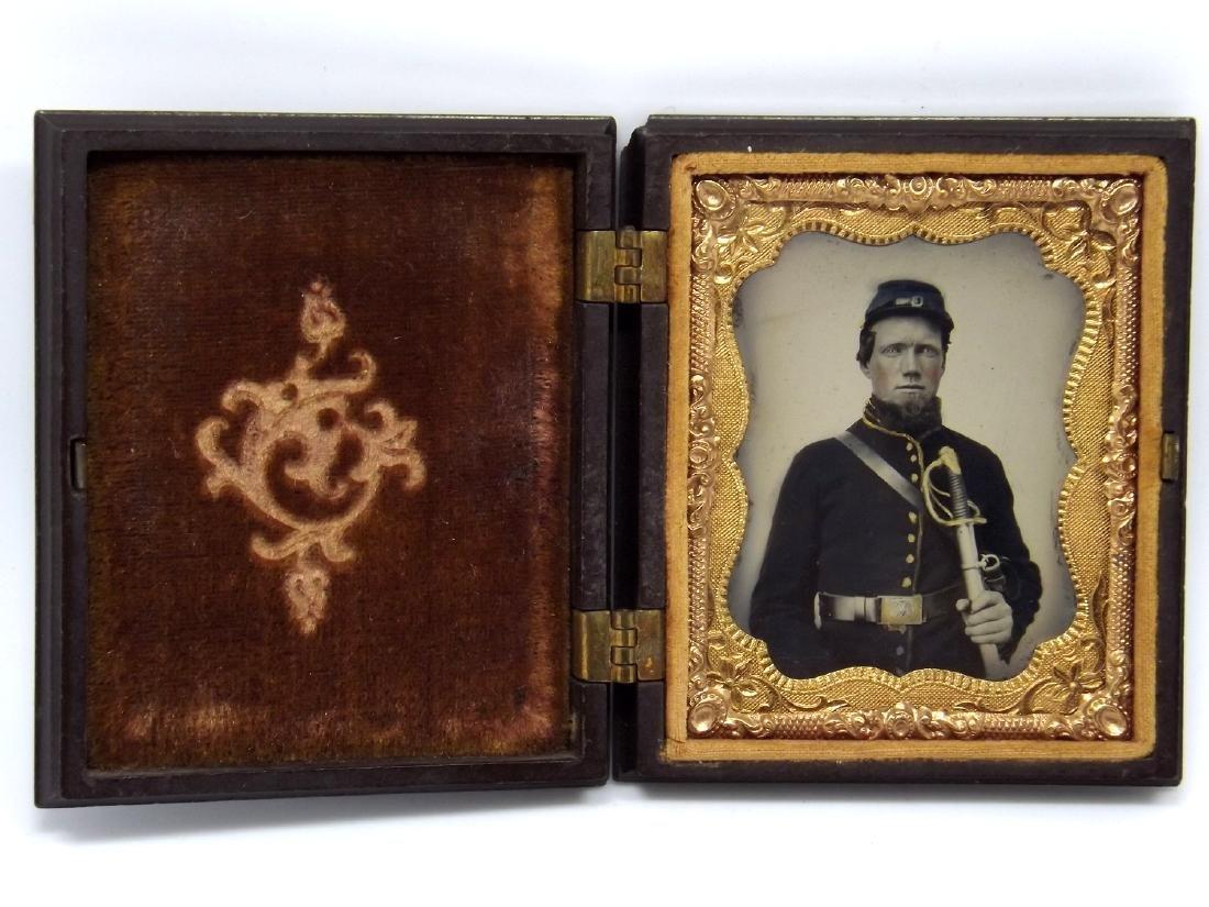 1/9 plate Melainotype Tintype Image of Civil War - 2