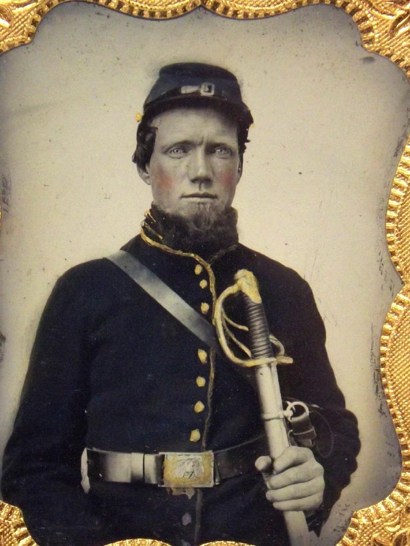 1/9 plate Melainotype Tintype Image of Civil War - 3