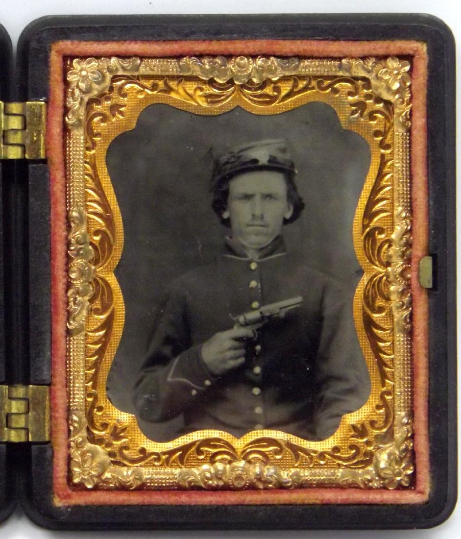 Fine Clarity 1/9 plate Tintype Image of Civil War