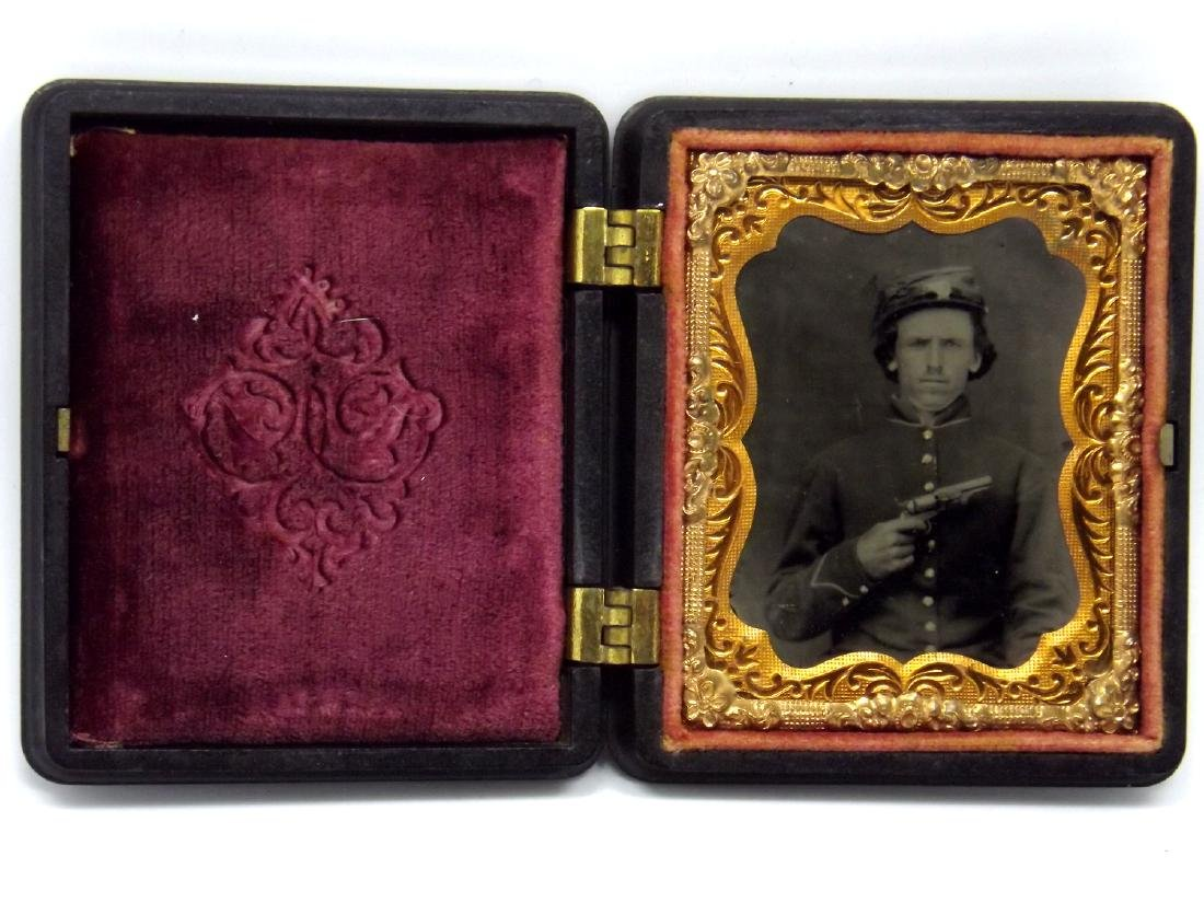 Fine Clarity 1/9 plate Tintype Image of Civil War - 2