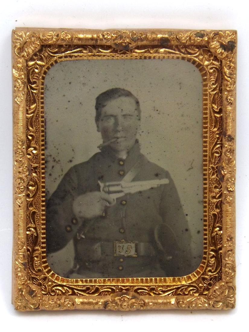 Rare 1/9 plate Ambrotype (Tintype) Image of Cool