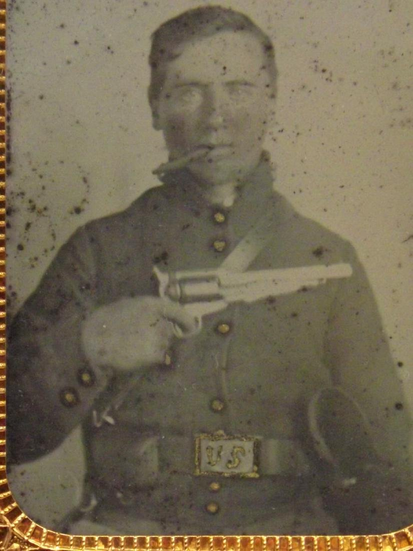 Rare 1/9 plate Ambrotype (Tintype) Image of Cool - 2