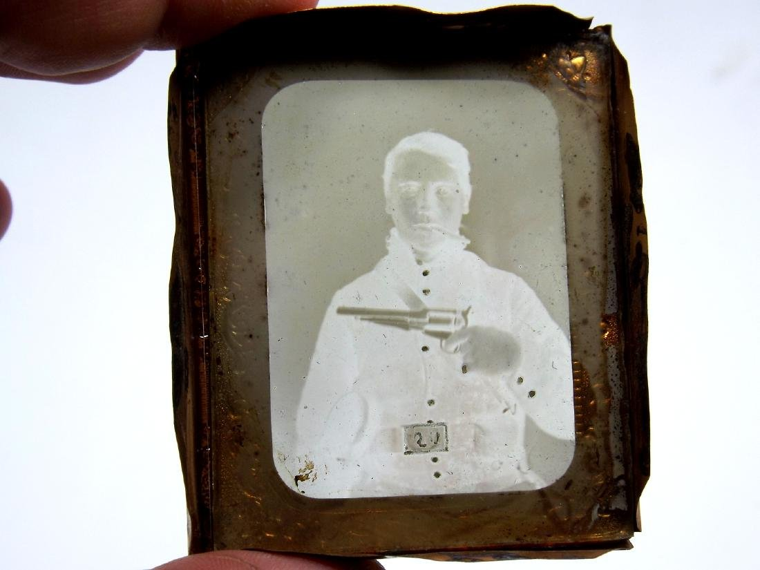 Rare 1/9 plate Ambrotype (Tintype) Image of Cool - 3