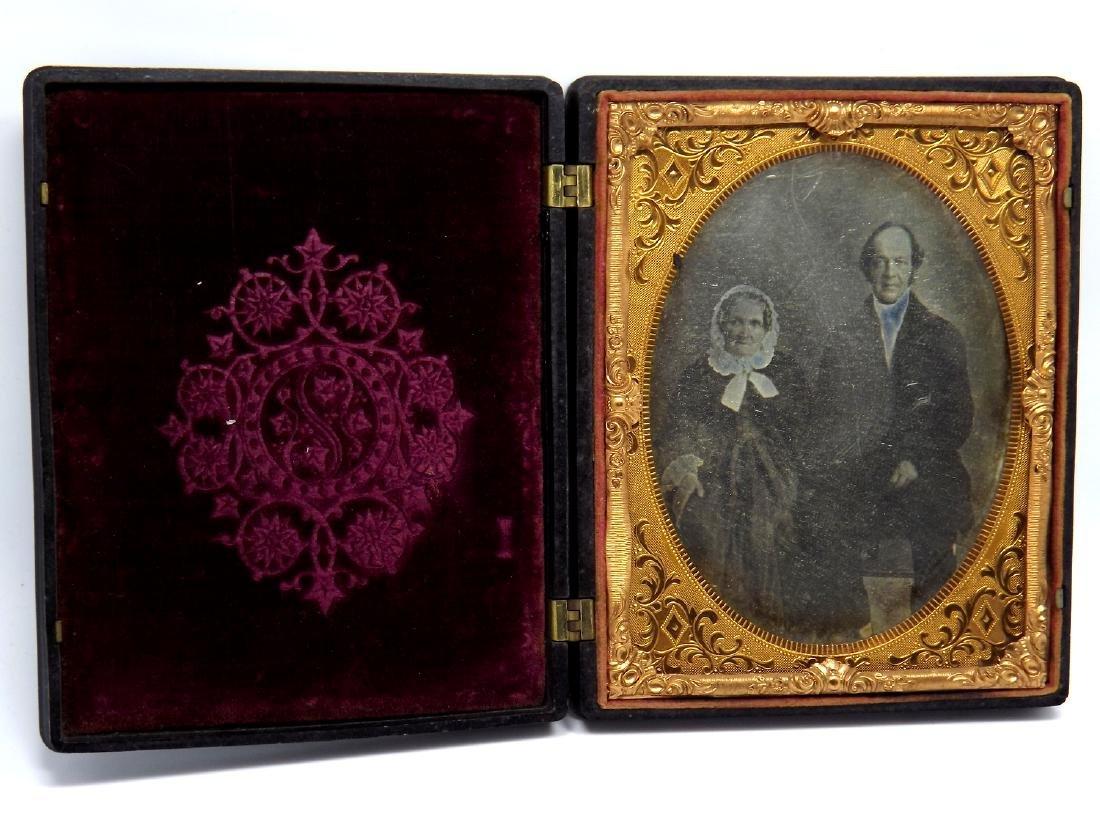 Civil War era Half plate Daguerreotype Image of Older