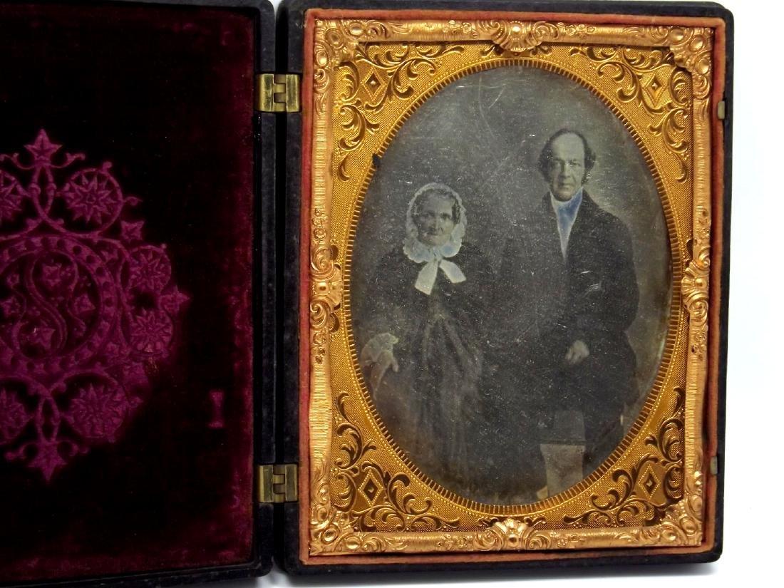 Civil War era Half plate Daguerreotype Image of Older - 2