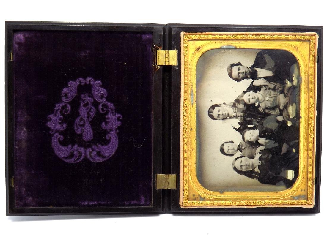 Civil War era Half plate Ambrotype image of a family - 2