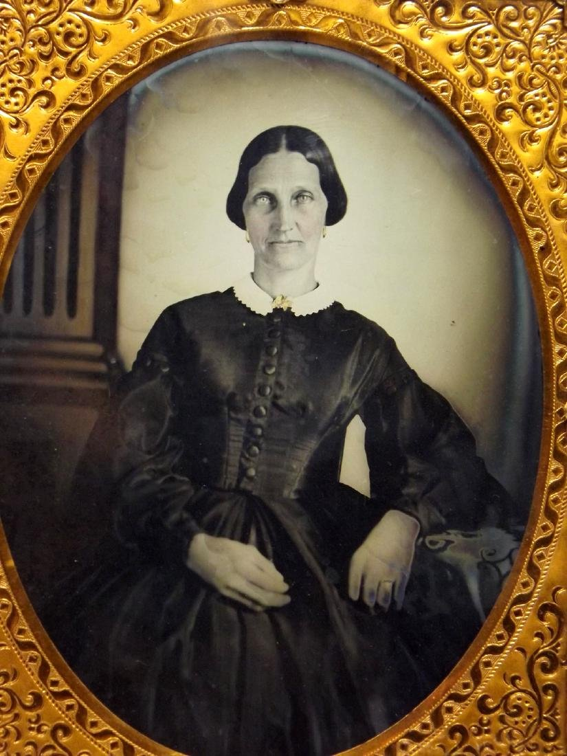 Nice Set of Half plate Tintype/Ambrotype Images of - 3
