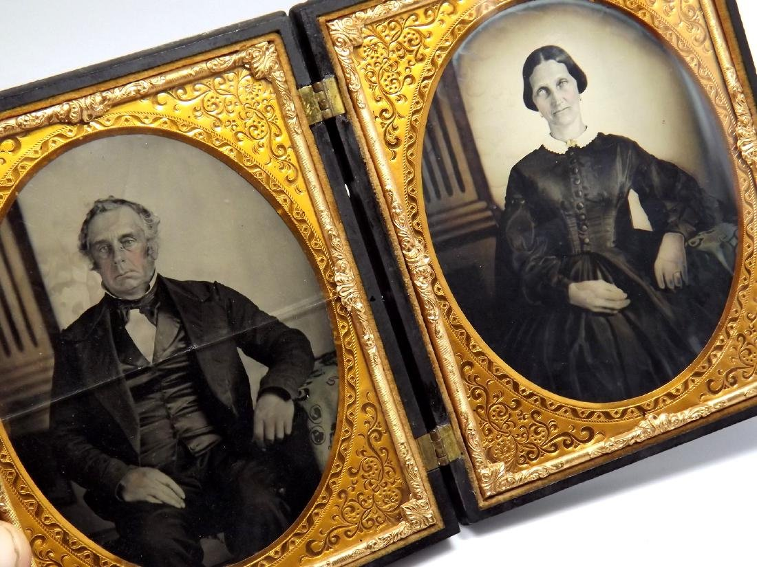 Nice Set of Half plate Tintype/Ambrotype Images of - 4