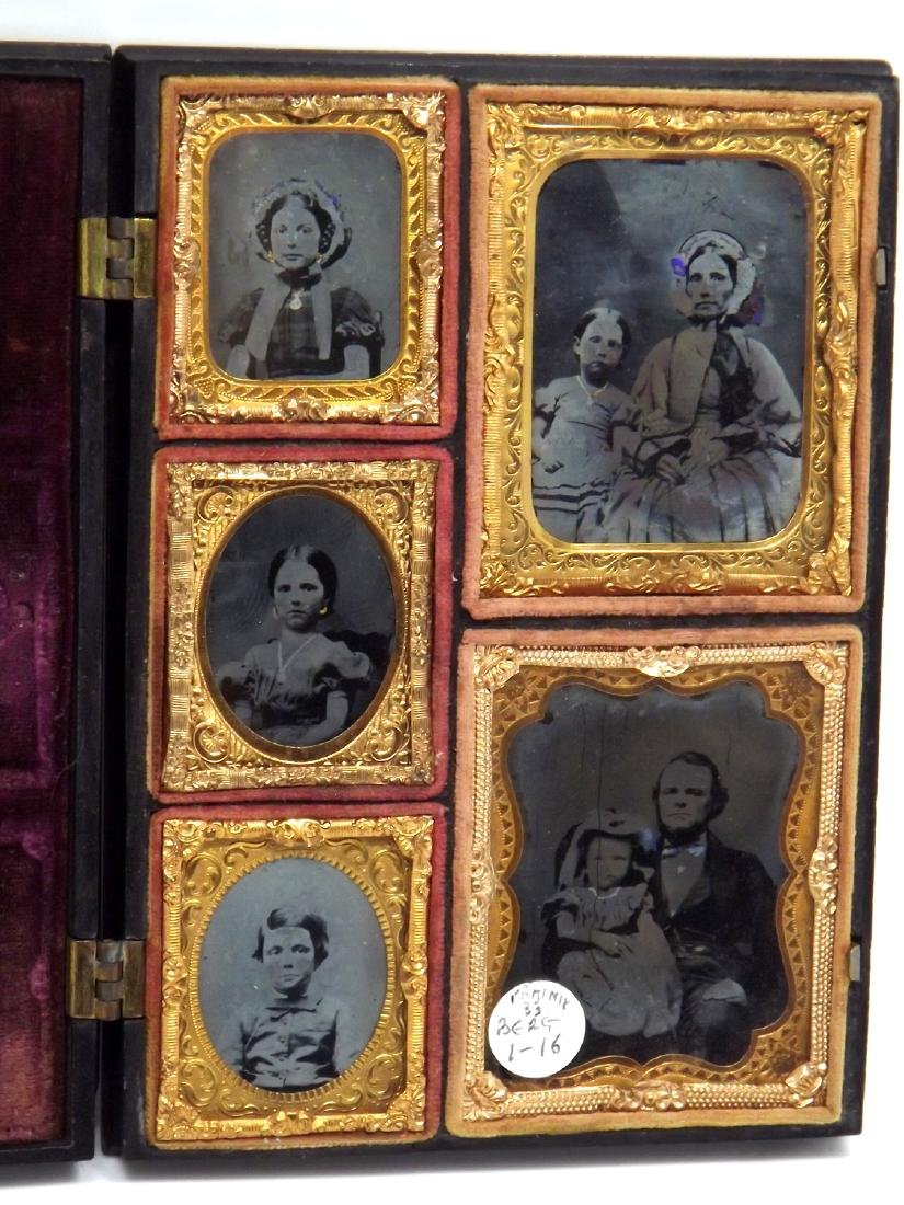 Lovely Set of Two 9th & Three 16th plate Tintype or - 5