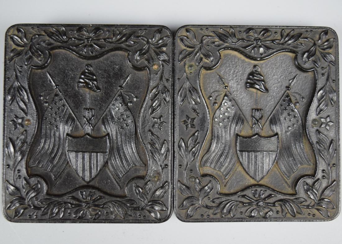 "Nice Patriotic 1/9 plate ""The Liberty Cap, Flags &"