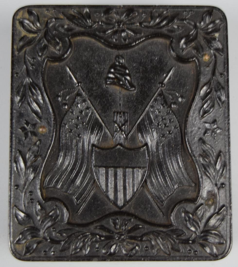 "Nice Patriotic 1/9 plate ""The Liberty Cap, Flags & - 3"