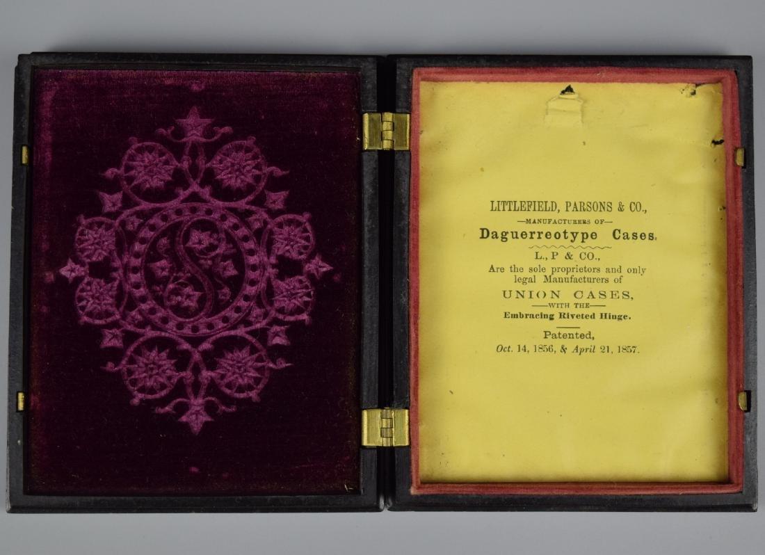 """Scarce Patriotic """"Union & Constitution"""" 1/4 plate - 2"""