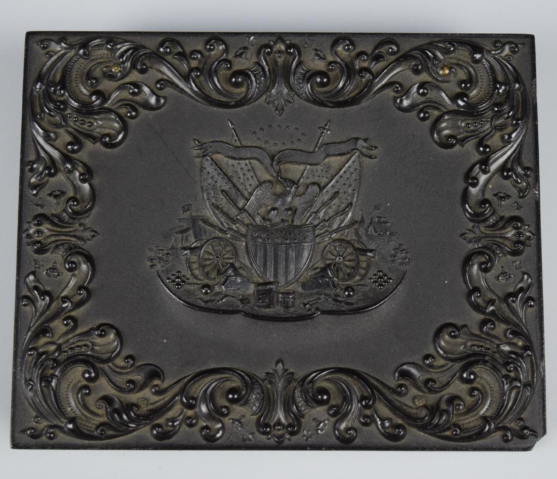 """Scarce Patriotic """"Union & Constitution"""" 1/4 plate - 3"""