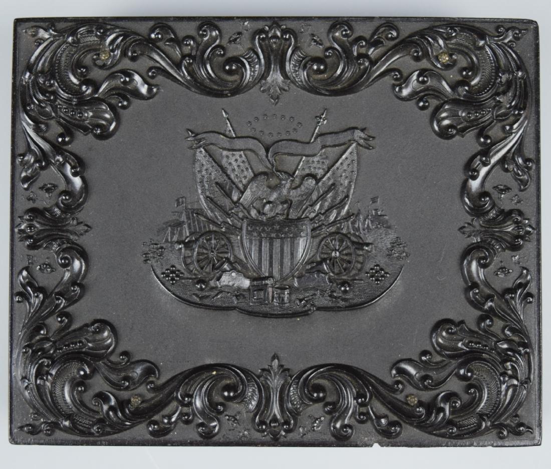 """Scarce Patriotic """"Union & Constitution"""" 1/4 plate - 6"""