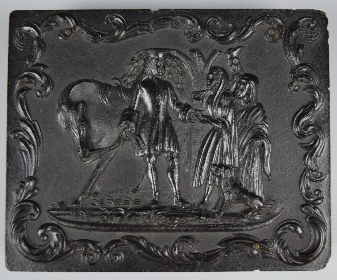 """Scarce """"Sir Roger deCoverly and the Gypsies"""" 1/4 plate - 3"""