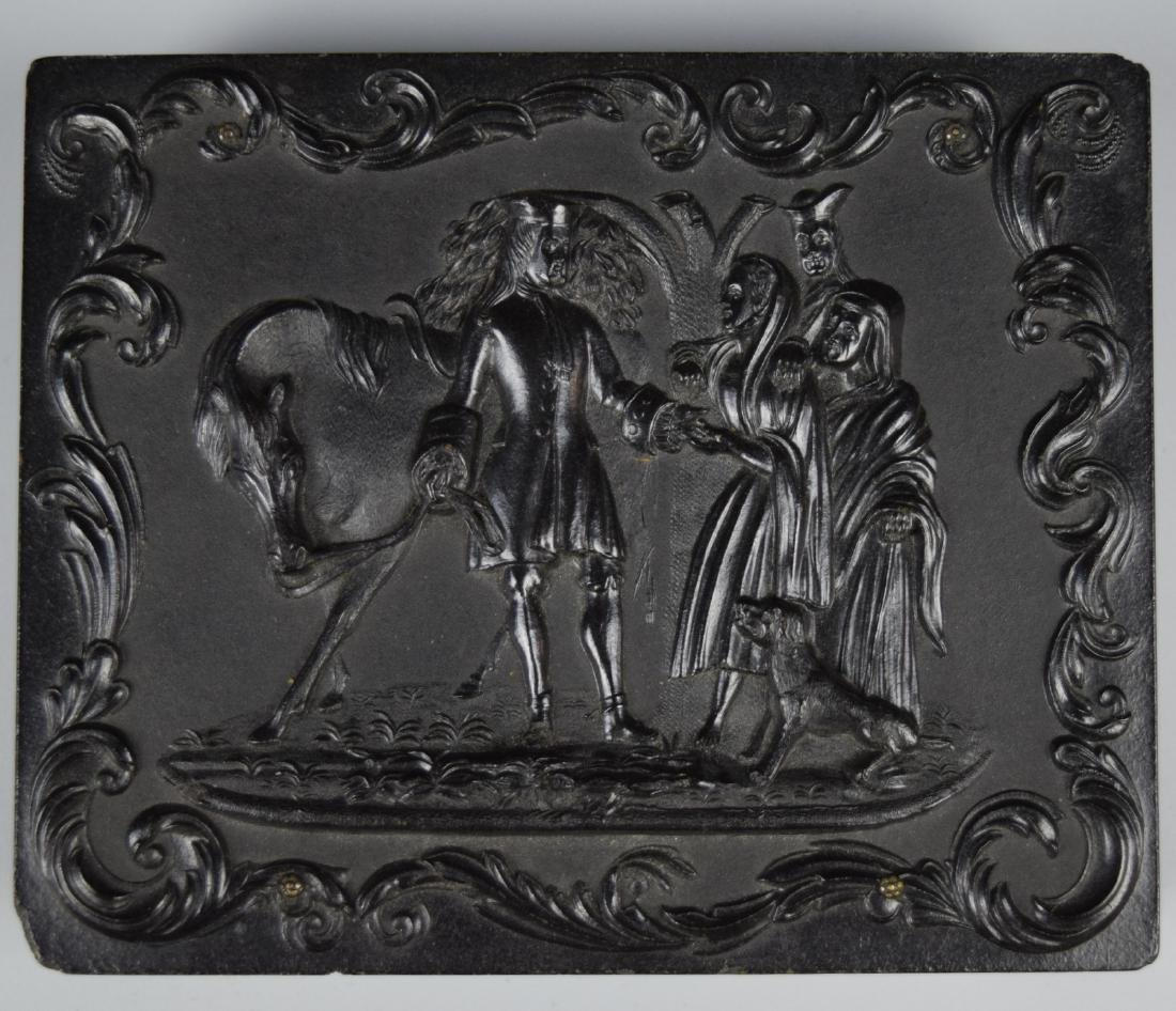 """Scarce """"Sir Roger deCoverly and the Gypsies"""" 1/4 plate - 6"""