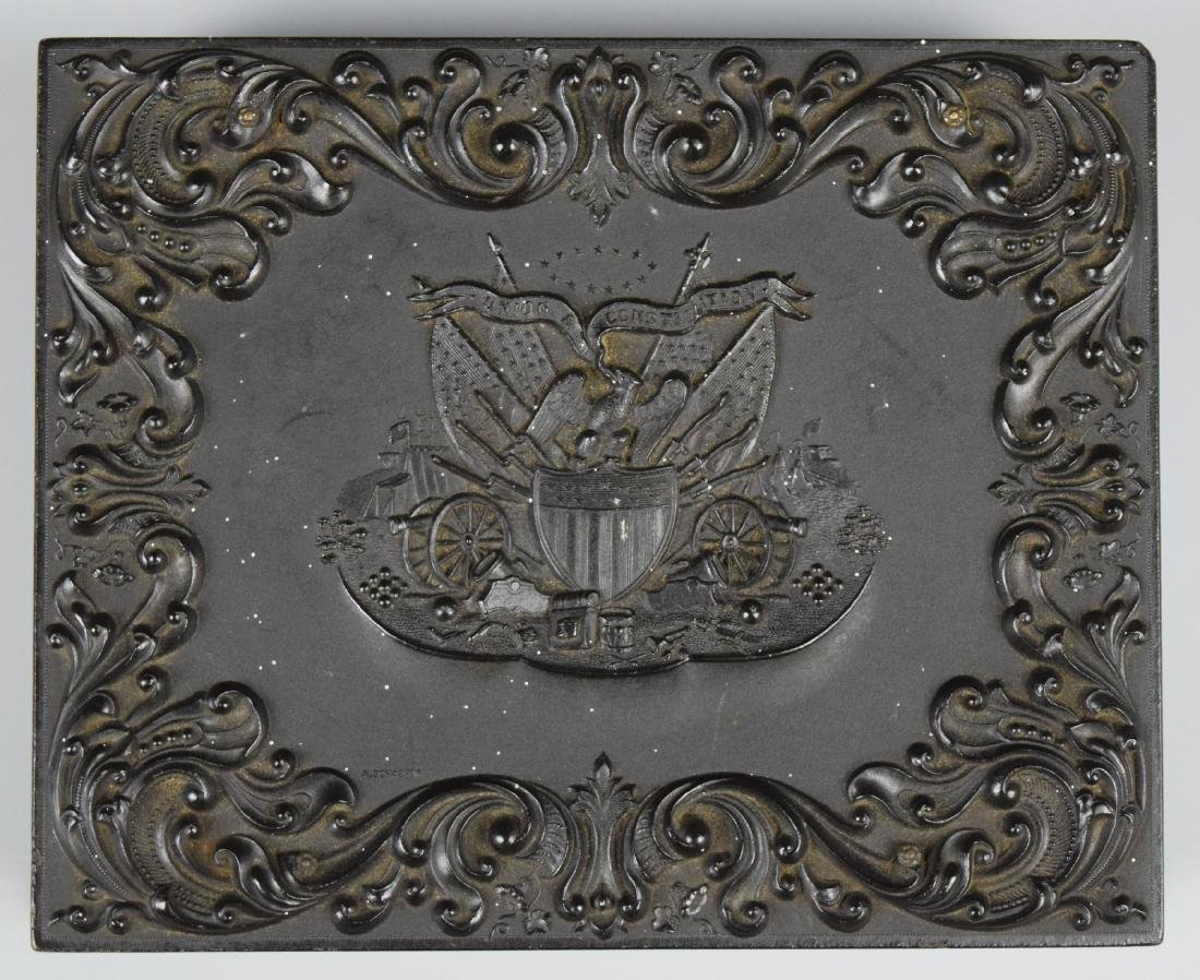 """Scarce Patriotic """"Union and Constitution"""" 1/4 plate - 3"""