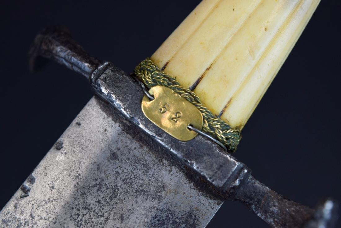 """Rare 16th C. Italian Aristocrat's """"Chinquedia"""" Dagger, - 8"""
