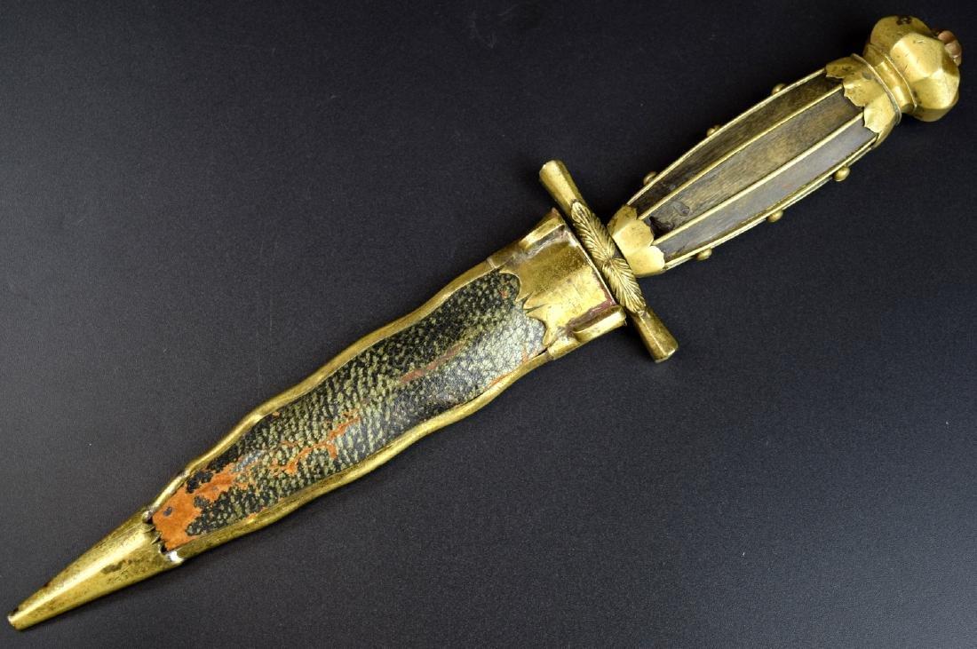 An Outstanding 18th C. European Naval Dagger Navy Dirk, - 3