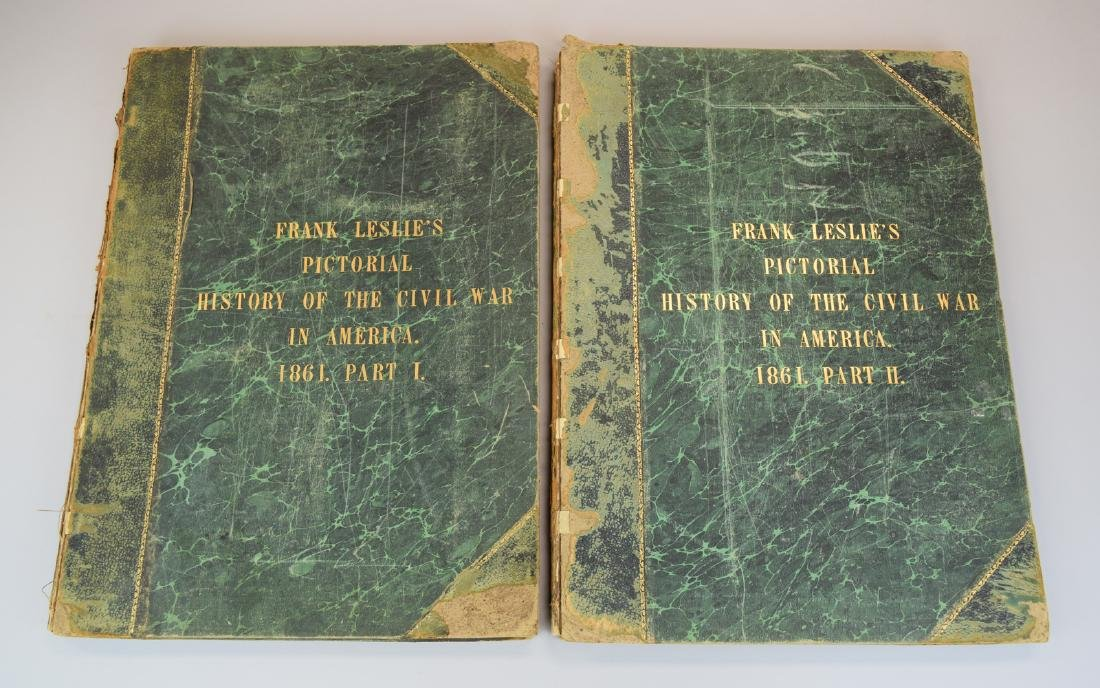 Rare Two 1861 Frank Leslie's Pictorial History of the