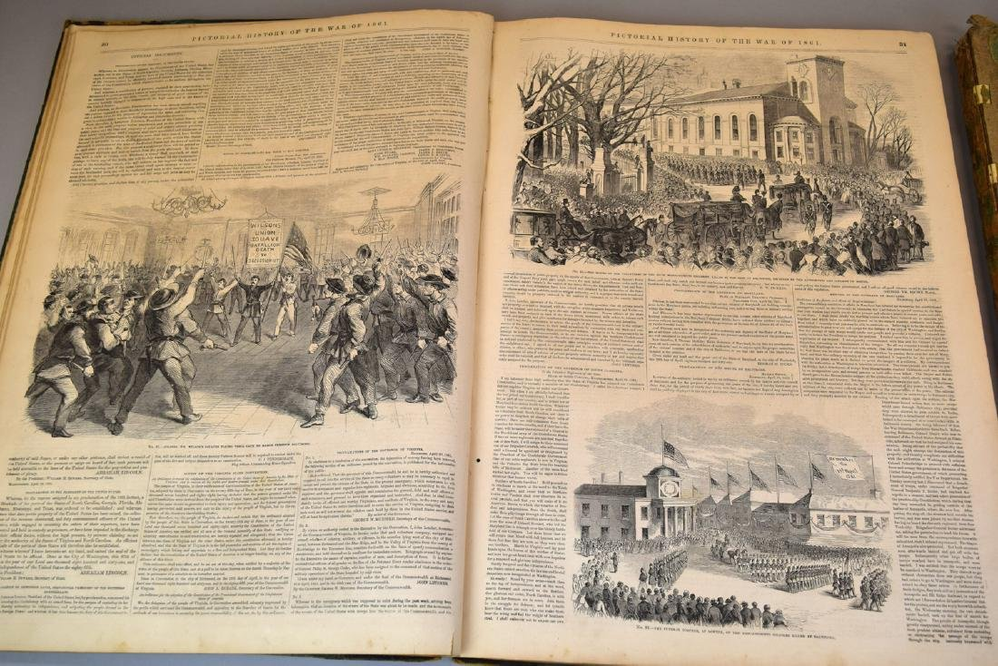 Rare Two 1861 Frank Leslie's Pictorial History of the - 4