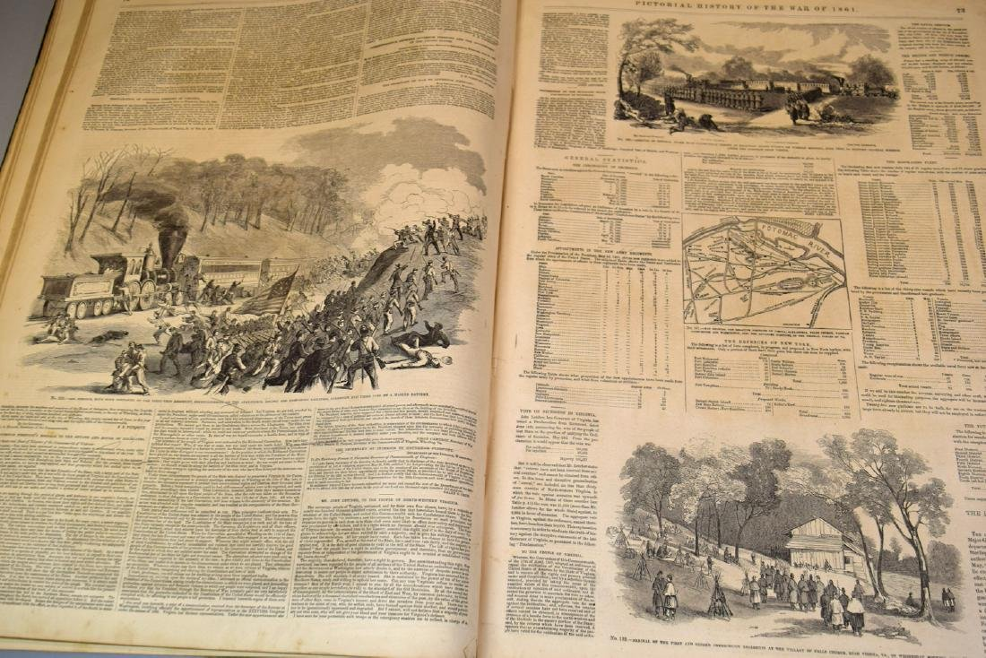 Rare Two 1861 Frank Leslie's Pictorial History of the - 5