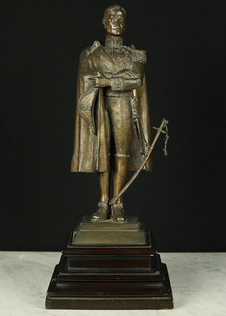 19th C. Estate Bronze Sculpture of a Napoleon Bonaparte