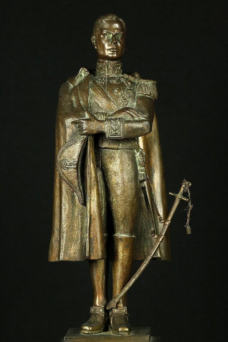 19th C. Estate Bronze Sculpture of a Napoleon Bonaparte - 3