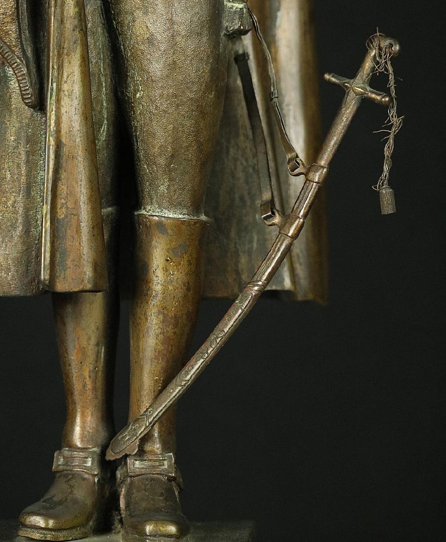 19th C. Estate Bronze Sculpture of a Napoleon Bonaparte - 4