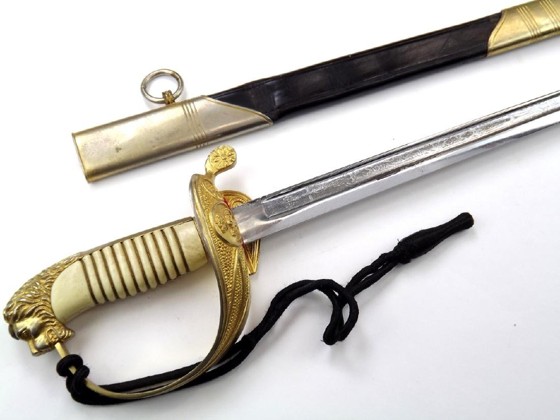 WWI - WWII German Made Lion Head Sword For a Spanish - 7