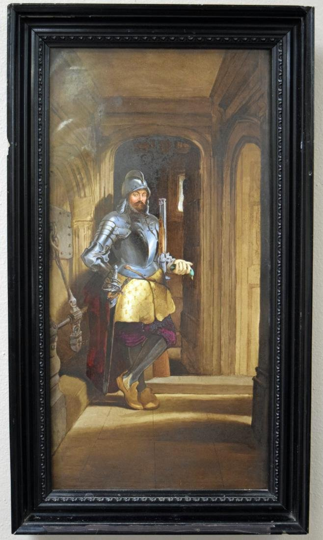 Very Fine 19th C. Large Porcelain Painting Plaque of a