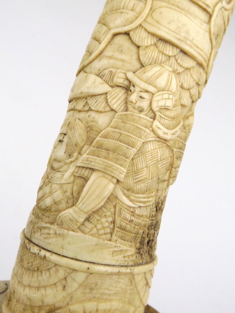 Late 19th C. Meiji Era Japanese Large Tanto Dagger in - 5