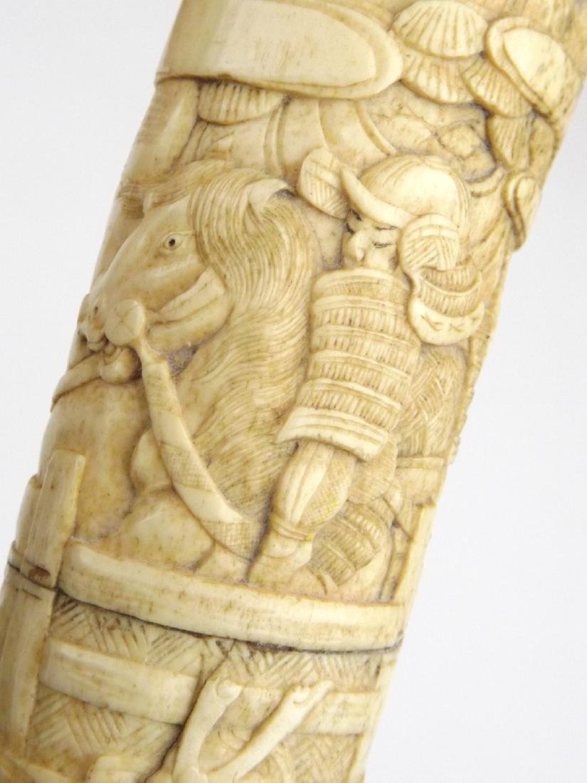 Late 19th C. Meiji Era Japanese Large Tanto Dagger in - 8
