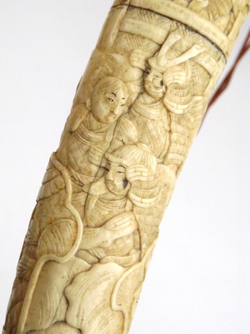Late 19th C. Meiji Era Japanese Large Tanto Dagger in - 9