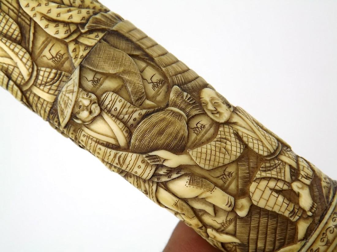 19th C. Meiji Era Japanese Tanto Dagger in Fine Carved - 4
