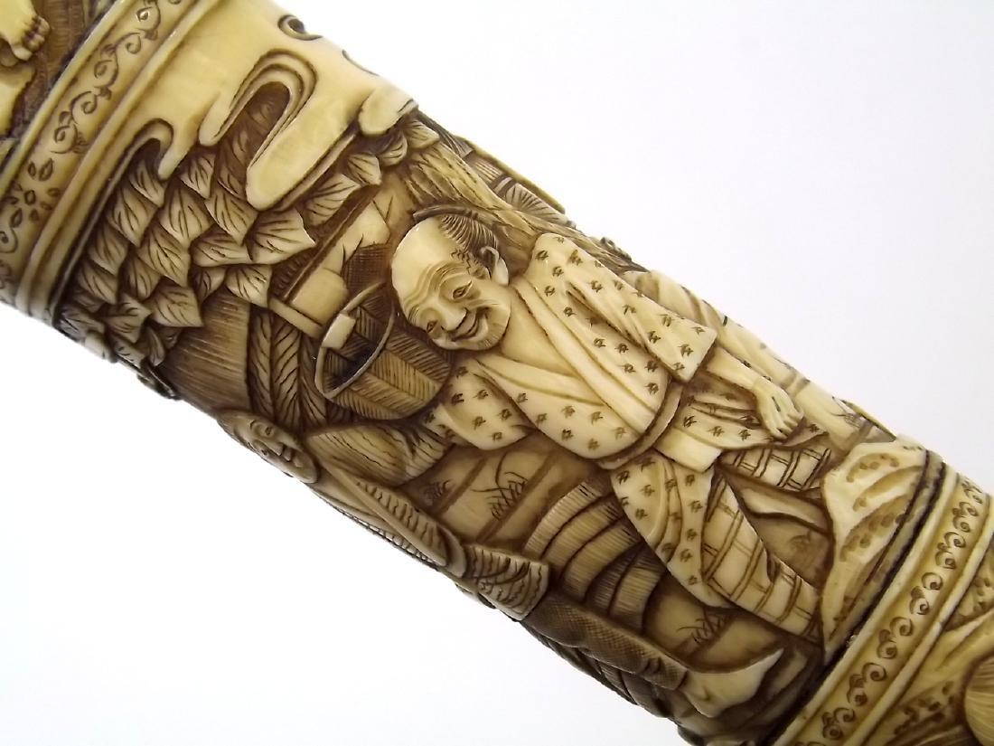 19th C. Meiji Era Japanese Tanto Dagger in Fine Carved - 7