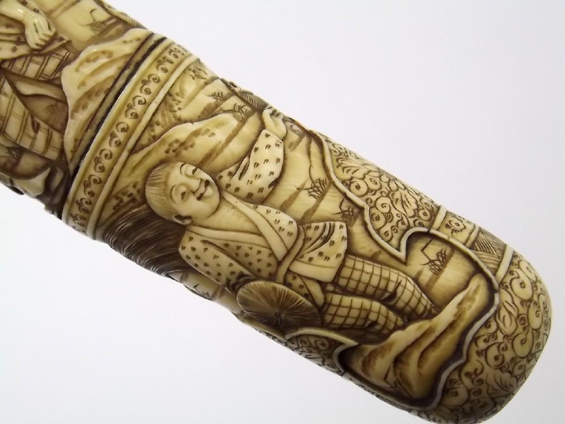 19th C. Meiji Era Japanese Tanto Dagger in Fine Carved - 8