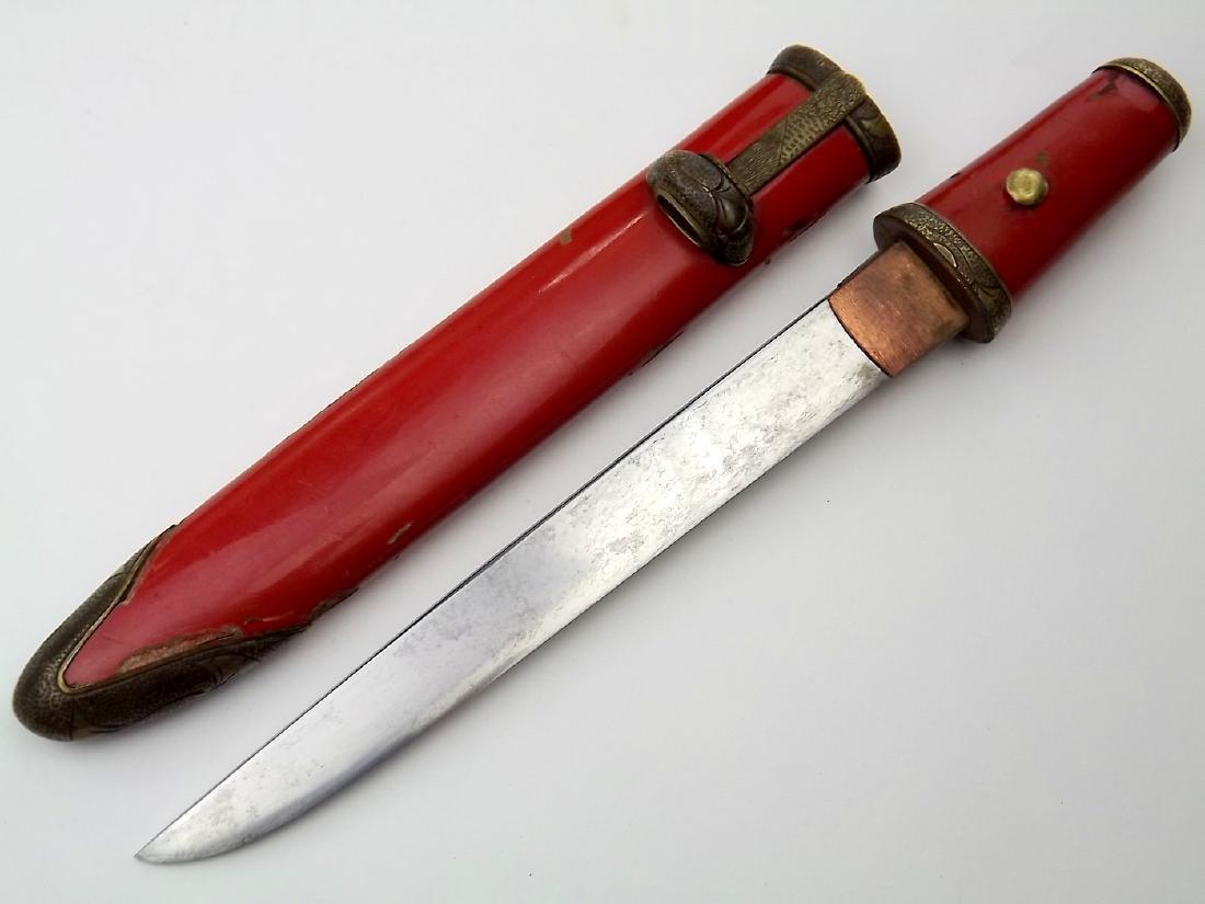 18th - 19th C. Japanese Ladies Tanto Aikuchi Dagger - 5