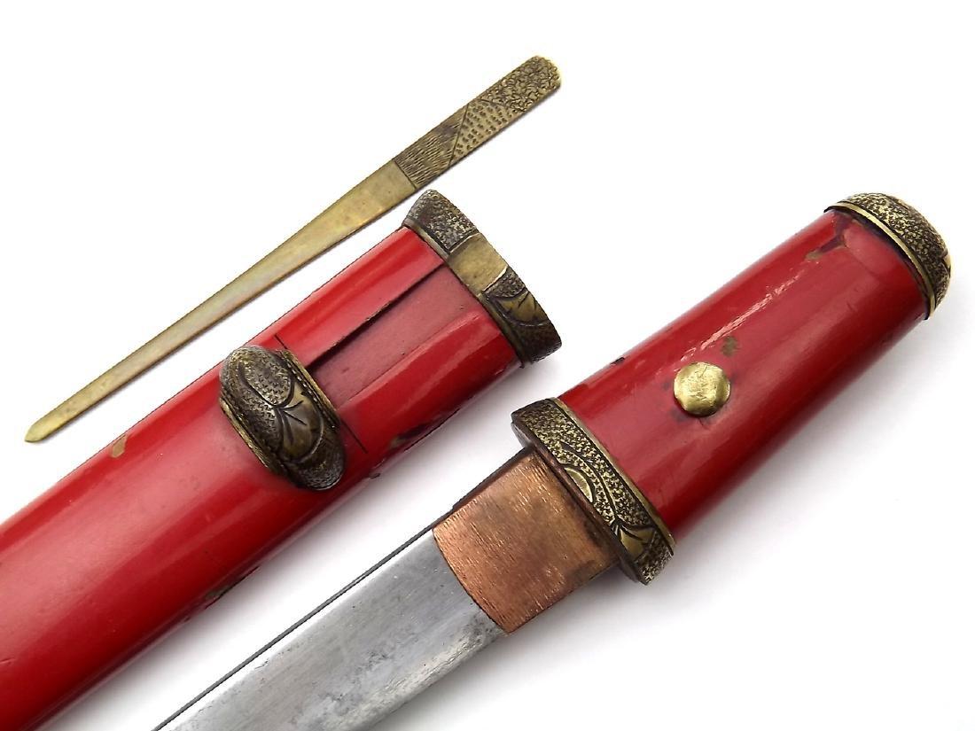 18th - 19th C. Japanese Ladies Tanto Aikuchi Dagger - 7
