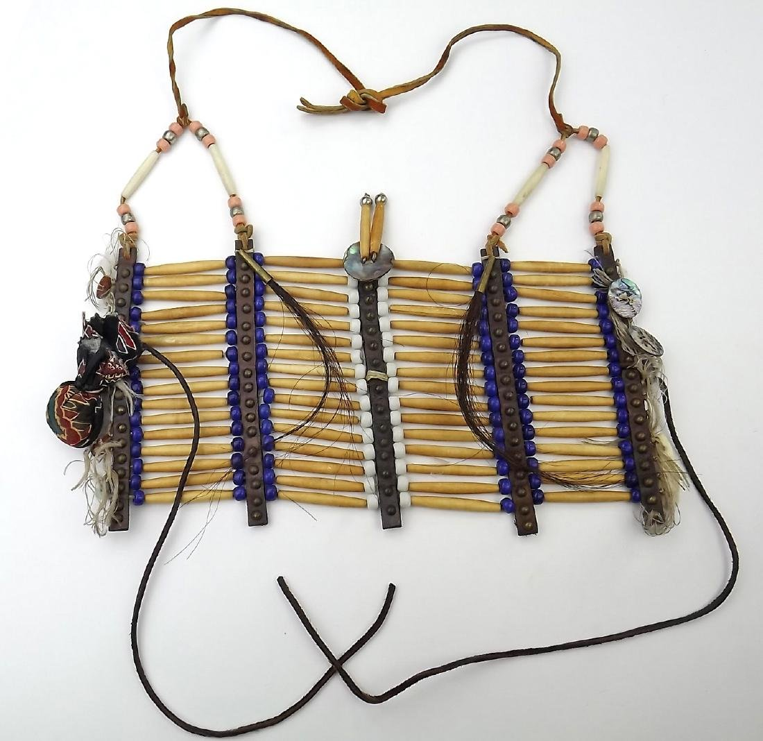 Native American Indian Breastplate Necklace of Bone