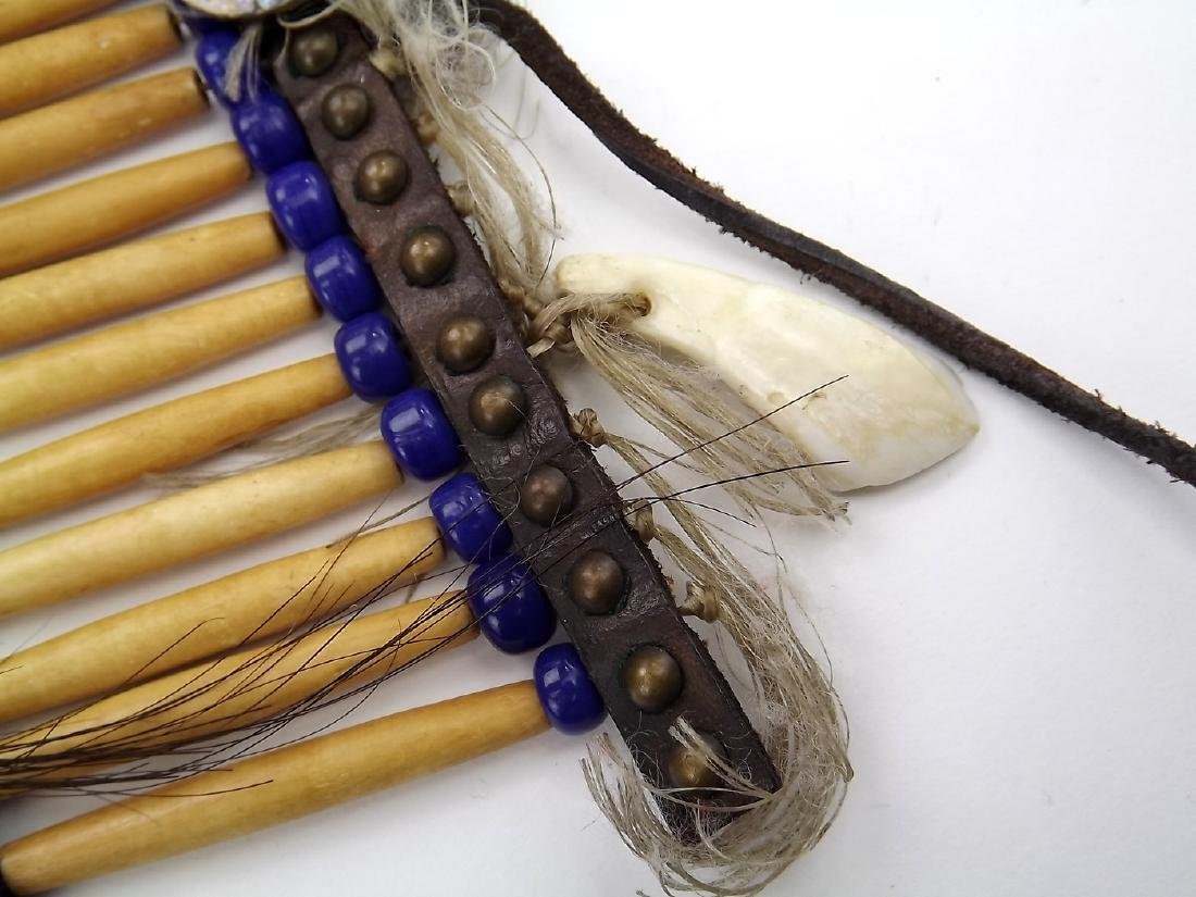 Native American Indian Breastplate Necklace of Bone - 6