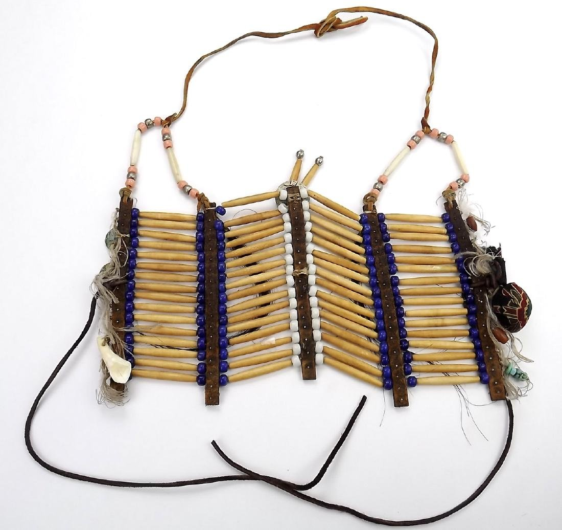 Native American Indian Breastplate Necklace of Bone - 7